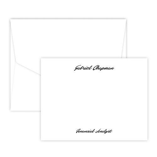 Personalized Atlantis Card - Raised Ink (White)