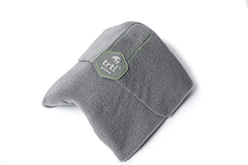 Trtl Pillow - Scientifically Proven Super Soft Neck Support Travel Pillow – Machine Washable (Grey) by Trtl