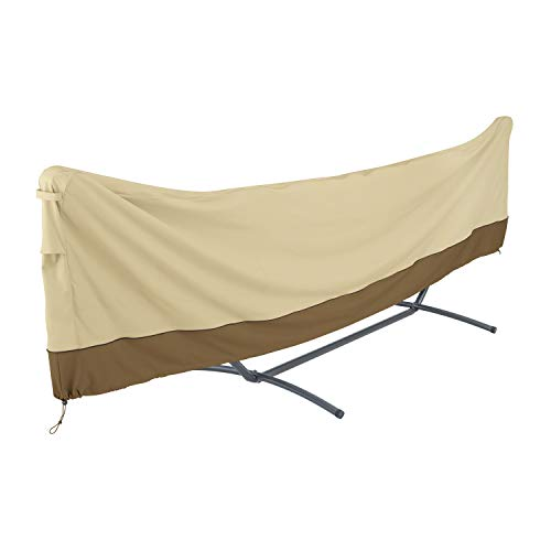 Classic Accessories 55-916-011501-00 Veranda Standard Brazilian Hammock and Stand Cover, Pebble/Bark/Earth