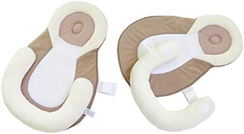 Newborn Lounger Mest Baby Positioning Pillow Portable Baby Bed Mattress Beige