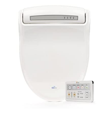 Biobidet Supreme Bb 1000 Elongated White Bidet Toilet Seat Adjule Warm Water Self Cleaning Wireless Remote