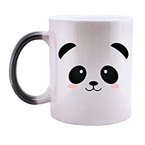 Heat Changing Mug, Caliamary Funny Cat Heat Changing Ceramic Coffee Mug, 11 oz Heat Sensitive Color Changing Coffee Mug Cup, Cute Xmas Gift Mug for Women Men Kids