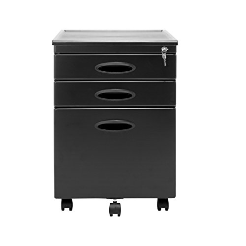 Calico Designs File Cabinet in Black 51100 - Black Filing Storage Cabinet