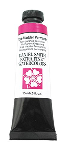 DANIEL SMITH Extra Fine Watercolor 15ml Paint Tube, Rose Madder Permanent