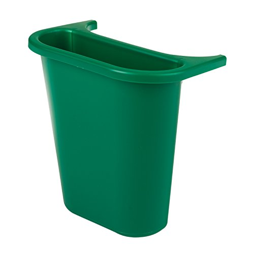 Rubbermaid Commercial FG295073GR Trash Can Recycling Side Bin, Rectangular, Green