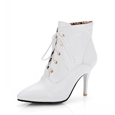 Otoño Señaló Invierno Botines Mujer EU43 Lace Novedad Botas Pu Para 5 Confort Moda Sintética Zapatos 5 De Stiletto UK9 Talón Botines RTRY Up Botas Toe Piel US11 De CN45 xzvUna