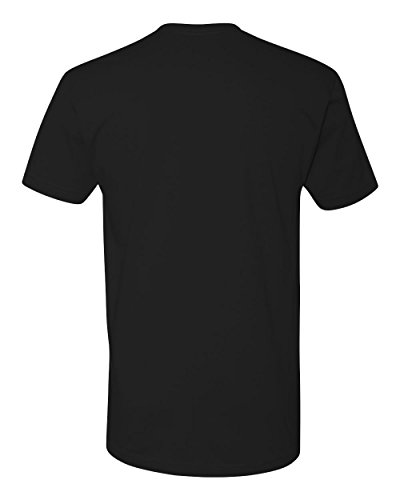 Next Level Mens Premium Fitted Short-Sleeve Crew T-Shirt - Large - Black