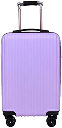 Trolley Case Zipper 20 Inch Suitcase Maleta Trolley Case Morado