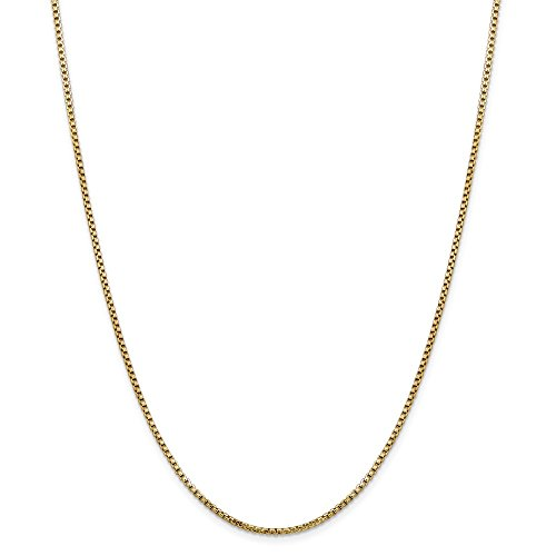 14kt Yellow Gold 1.75mm Hollow Round Box Chain; 24 inch ()