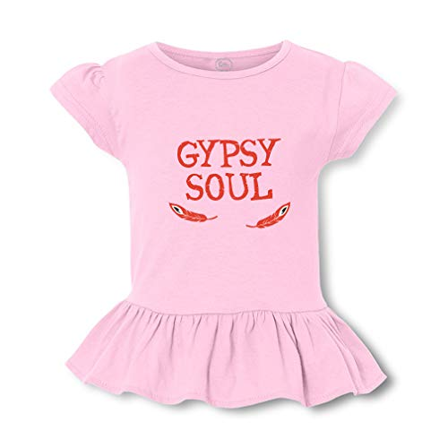 Gypsy Soul Short Sleeve Toddler Cotton Girly T-Shirt Tee - Soft Pink, 5/6T]()