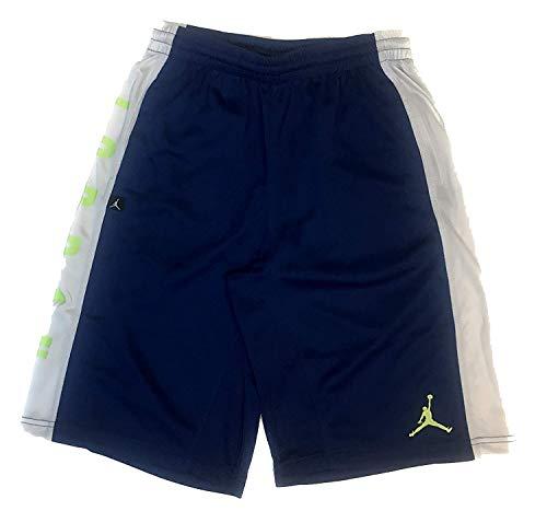 Nike Jordan Hoops - Nike Boys' Air Jordan Highlight Basketball Shorts - Insignia Blue (X-Large)