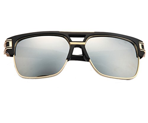 Heartisan Vintage Square Frame Anti-UV Reflective Wayfarer Sunglasses - Lv Sunglasses Price