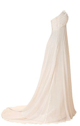 GEORGE DESIGN 2017 New Sweetheart Empire Ruched Beach Wedding Dress Size 8 Ivory