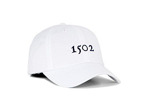 Hat Stationery (Cotton Twill Unstructured Golf Hat, Adjustable Golf Hat From The 1502 (White))