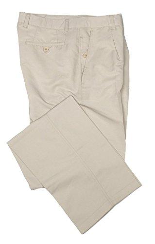 THINK Golf, Micro Fiber Casual Mens Dress Pants, Dual Pocket, 1 Pleat - Beige 32