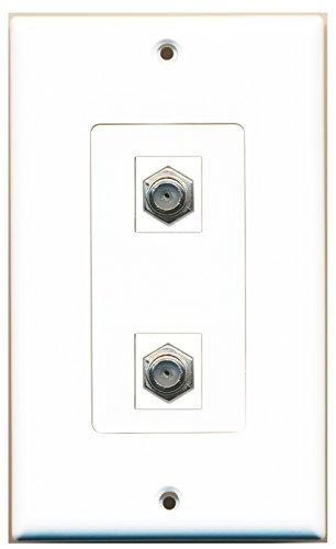RiteAV - 2 Port Coax Decorative Type Wall Plate - ()