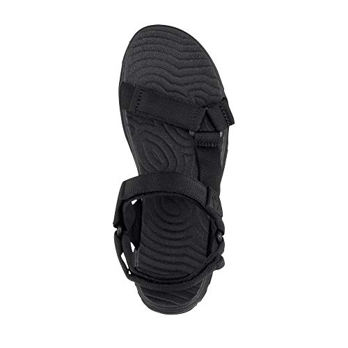 Seas Noir Wolfskin 6000 Sandal Sport black Jack W Seven 2 Femme RExxpS