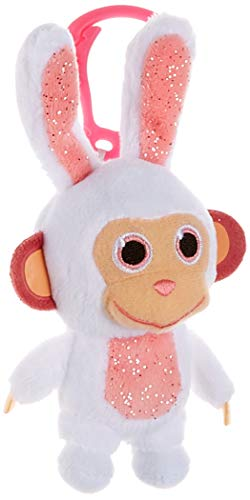 JOY TOY Wonderpark 31051 Plush Clip On Toy Rabbit 8 cm Multi-Coloured