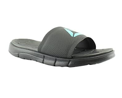 603620479 Image Unavailable. Image not available for. Color  Reebok Womens Zprint Slide  Black Coal Pacific White Running