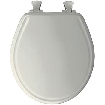Nextstep Wood Round Slow Close Toilet Seat Finish Biscuit