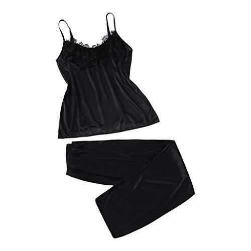 - Women Lace Sleepwear Satin Pajama Camisole Shorts Set Nightwear, Nightgown Neon Nightwear 2019 Sex Plus Size Set Spandex Pajamas Pregnant Naughty Nightdress Nighty Net Netting Small (Black S)