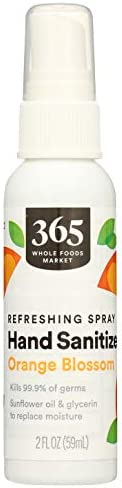 365 by Whole Foods Market, Hand Sanitizer, Refreshing Spray - Orange Blossom, 2 Fl Oz
