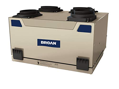 Broan ERV110T 105 CFM Energy Recovery Ventilator with Top Ports, N/A