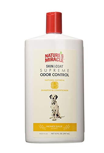 Nature's Miracle UPG-783 Natural Oatmeal Shampoo And Conditioner For Dogs, Honey Sage Scent, 32 oz.