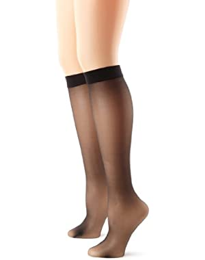 Hanes Silk Reflections Women's Knee High With No Slip Band