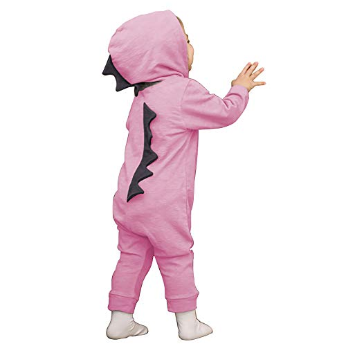 Cute Baby Boy Girl Animal Dinosaur Long Sleeve Hoodie Romper Baby Costumes Jumpsuit (Pink, 100/2-3Y)
