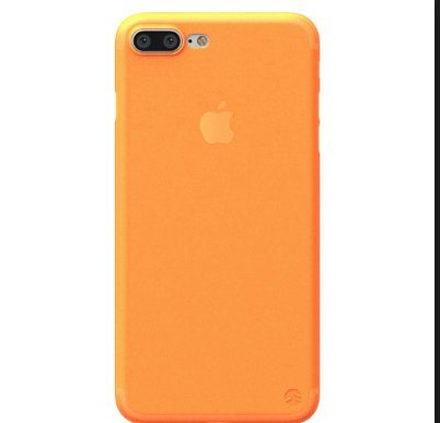 iPhone Orange Frosted Transparent Flexible product image