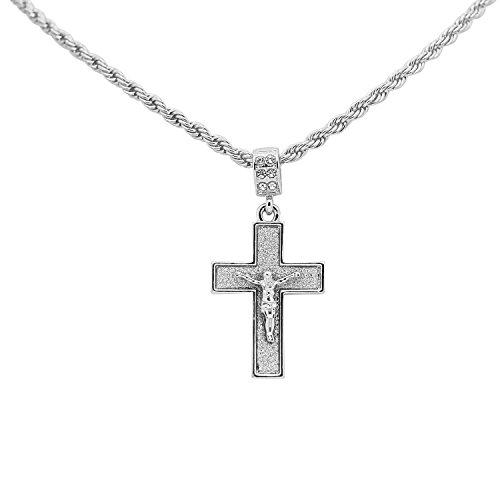 Bling Stardust Crucifix Cross Pendant 3mm 24