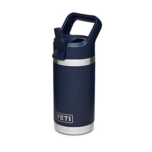YETI Rambler Jr. 12 oz Kids Bottle w/Straw Cap, Navy