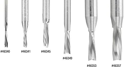 46365 Solid Carbide Spiral Plunge For Solid Wood 1//4 Dia x 1-1//8 x 1//4 S Amana Tool