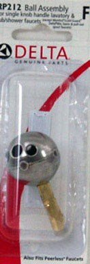 Delta Faucet Ball Assembly Stainless Steel Carded