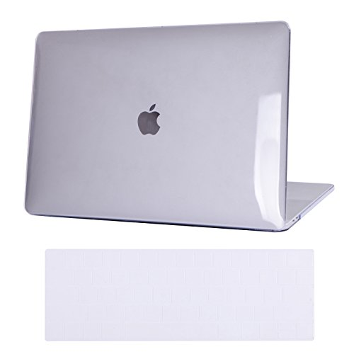 HDE Clear Plastic Hard Shell Case for MacBook Pro 15 Inch Touch Bar (2016,2017,2018, 2019 Release Models: A1707/A1990), Clear