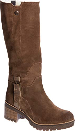 - Bos. & Co. Women's Major (Overland Edition) Wool-Lined Waterproof Suede Boots Tan/Camel