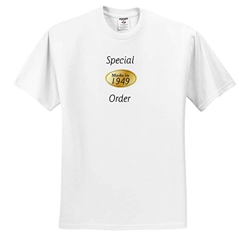 (Lens Art by Florene - Birthday for Baby Boomers - Image of Special Order with Gold Oval Made in 1949 - T-Shirts - White Infant Lap-Shoulder Tee (12M) (ts_307346_67))