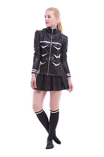 ROLECOS Womens Battleframe Japanese Anime Cosplay Costume Dress Suit Black M]()