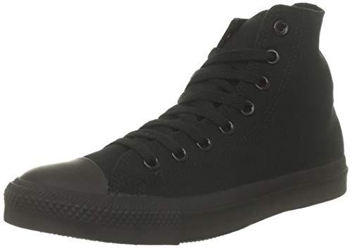 Converse Mens All Star Hi Top Chuck Taylor Chucks Sneaker Trainer - Black Mono - 15