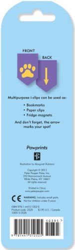 Pawprints i-clips Magnetic Page Markers (Set of 8 Magnetic Bookmarks) by Peter Pauper Press (Image #1)
