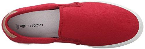 Lacoste Mens Jouer Slip-on Cam Mode Sneaker Röd