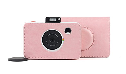 Wogozan Pink PU Leather Case Bag for Polaroid Snap Touch Camera ()