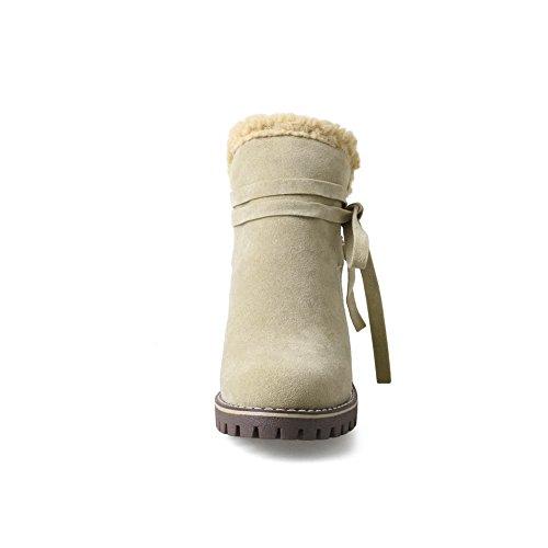 Apricot Suede Platform BalaMasa Comfort Resistant Slip ABL09995 Womens Boots 8w5wP