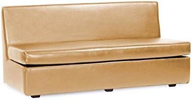 Howard Elliot Slipper Sofa Cover Luxe Gold, Linen Slub Natural