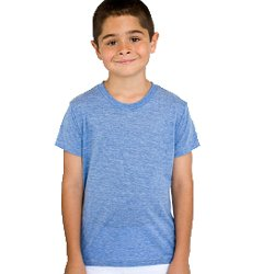 American Apparel Kids Youth Tri-Blend Short Sleeve T Size 10 Years Tri-Indigo