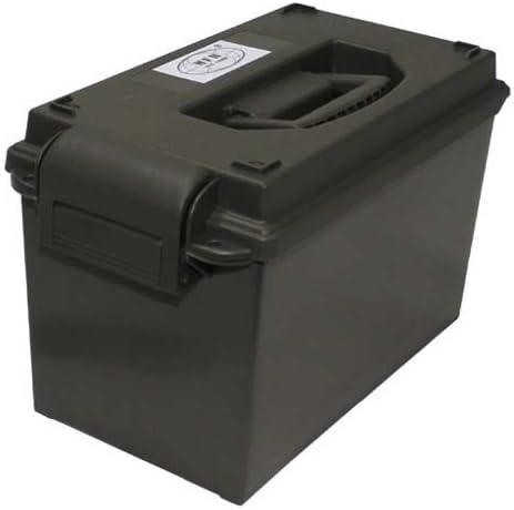 MFH US - Caja de plástico para municiones, 50 mm, color verde oscuro: Amazon.es: Deportes y aire libre