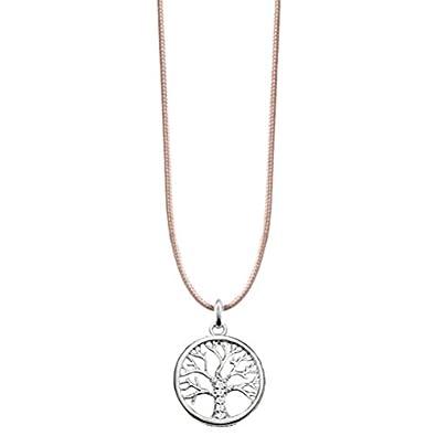 Thomas Sabo Women's Tree of Life Bead Silver Zirconia Necklace of Length 38-42cm SCKE150145 92kEVd