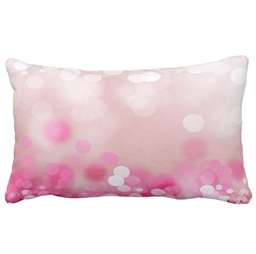 Pink Glowing Dots Pillow Case 19.68X29.5 in MaudSmed06