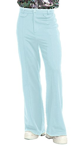 Charades Men's Disco Pants, Blue -